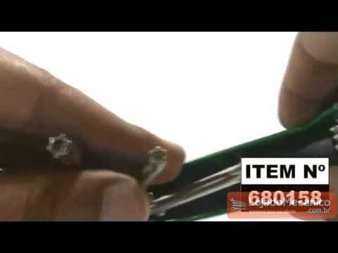 Chave Tork Dobrável com 08 Pontas Sem Furo - Video
