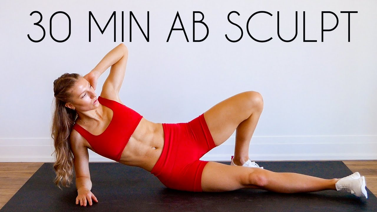 30 MIN CARDIO AB SCULPT WORKOUT with Warm Up & Cool Down (No Equipment)