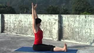 Смотреть онлайн Позы хатха йоги урок для начинающих с Ольгой Булановой
