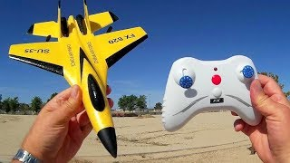 Flybear FX 820 SU 35 2 Channel RC Airplane Flight Test Review