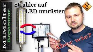 Baustrahler auf LED umrüsten - ausführliche Anleitung von M1Molter