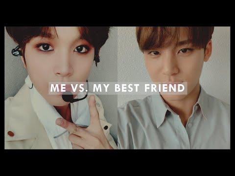 me vs. my best friend: kpop biases