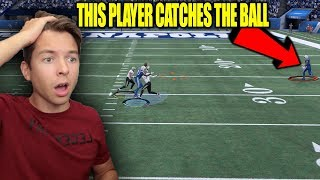 THE MOST RIDICULOUS  CATCH EVER!! HOW?! MADDEN 18 SUPER SQUAD #38