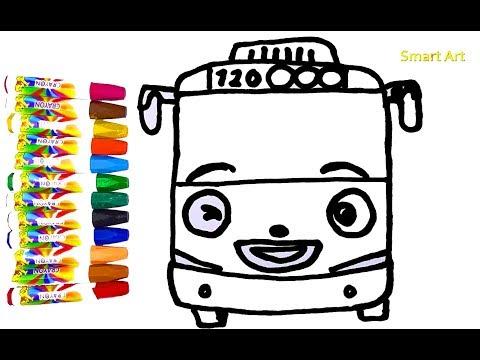 Belajar Menggambar Dan Mewarnai Bis Kecil Rogi Tayo The Little Bus