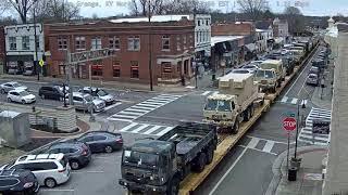 Military Train Through La Grange