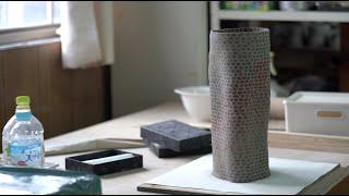 Ceramics Vessel With Nerikomi Technique   Pottery   Coil Building   練り込み   陶芸