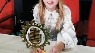 Данэлия Тулешова благодорит всех, кто за нее голосовал (Junior Eurovision, Daneliya Tuleshova)