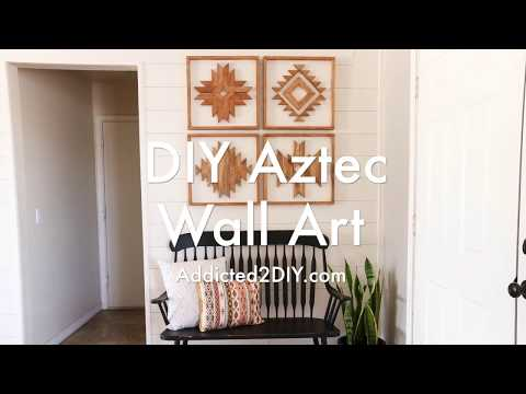 How To Make DIY Wooden Aztec Wall Art