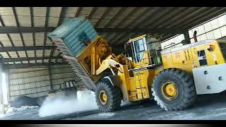 XIAJIN Container Loader Working In The Warehouse