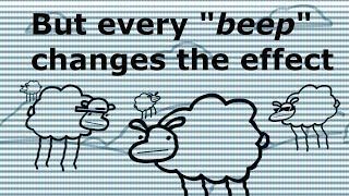 """Beep Beep I'm a Sheep but every """"beep"""" changes the effect"""