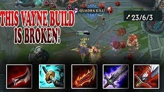 THIS VAYNE BUILD IS BUSTED! MUST SEE, BURSTS DOWN ENEMYS SO FAST