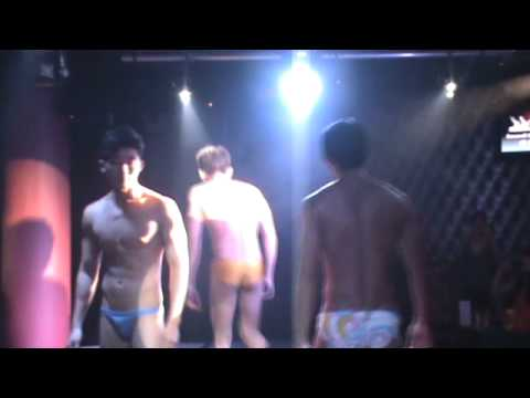 Sexy mannen kaarten Mens Swimwear Show Silk Club On Ladies Night..