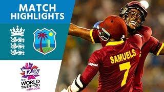 Brathwaite Hits 4 Sixes To Win! |  England Vs West Indies | ICC Men's #WT20 FINAL - Highlights