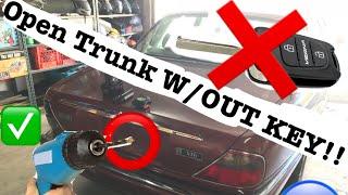 UNLOCK TRUNK WITH OUT KEY | Jaguar x300
