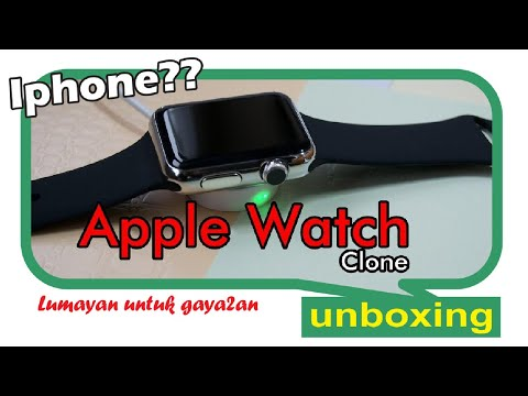 Smartwatch Clone Apple Watch 1:1 (Kembar) Silver Black IWO 5