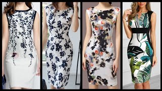 Stylish (2020) Casual Wear Floral Printed Bodycon Dresses Styles And Ideas For Girls And Women.