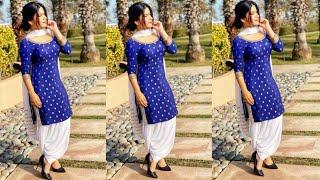 Blue Colour Combination Punjabi Suits Designs 2020/2021