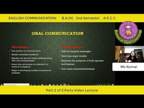 ENGLISH COMMUNICATION - PART - 2 By - MS KOMAL