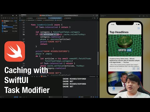 Caching with SwiftUI Task Modifier   REST API Data   Expiration Timestamp Invalidation thumbnail