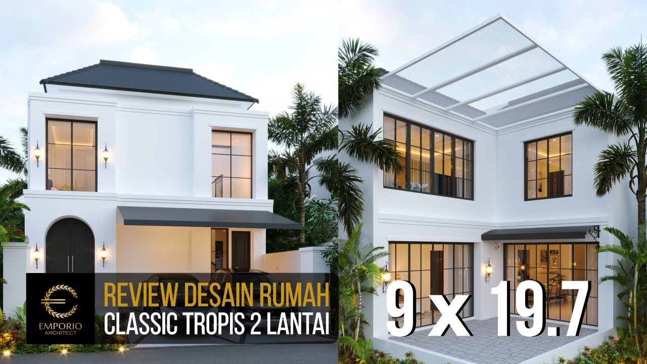 Video 3D Desain Rumah Classic 2 Lantai Ibu Ica di Bandung, Jawa Barat