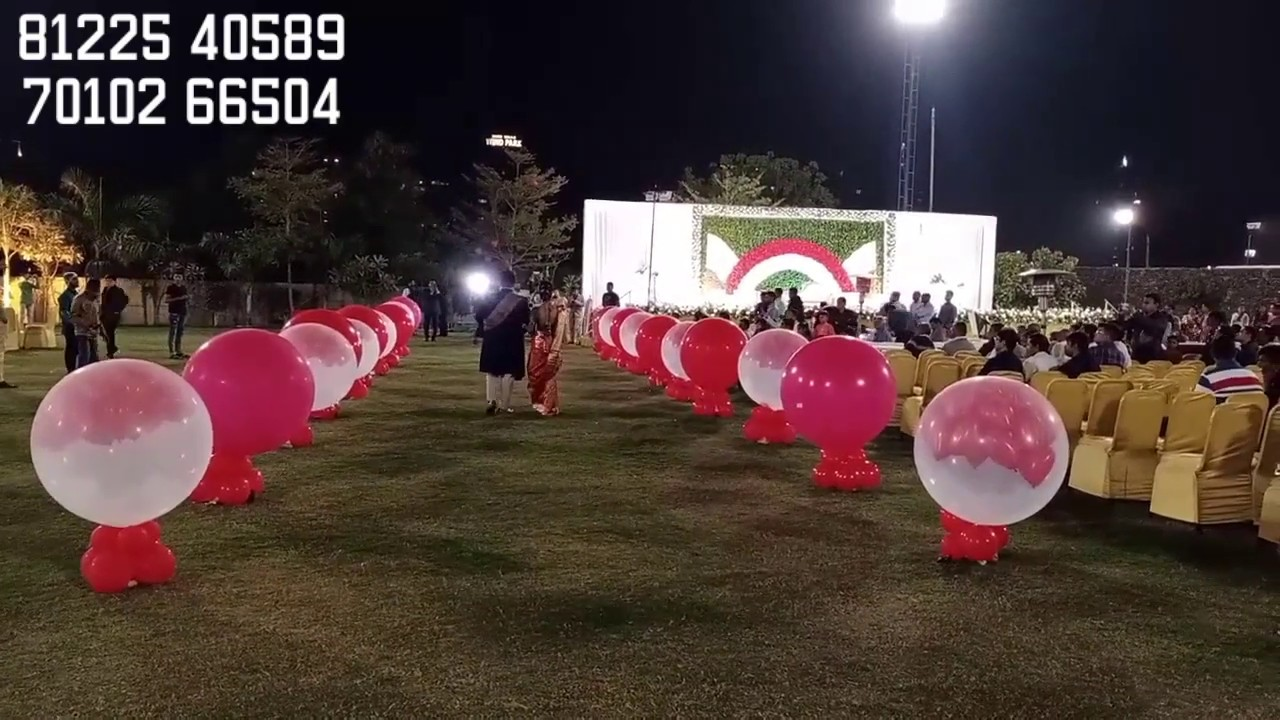 Balloon Blast Entry New Concept Wedding Marriage Reception Event +91 8122540589 (WA)