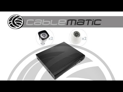 Kit de video vigilancia DVR con 4 cámaras - distribuido por CABLEMATIC ®