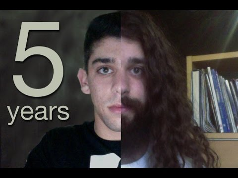 five years time lapse half a decade of hair growth