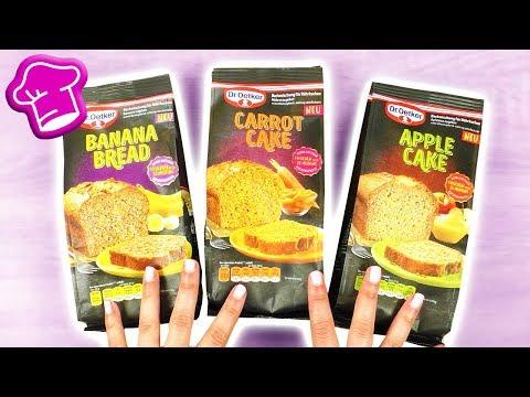NEUE Backmischungen im TEST | Apple Cake🍎 Banana Bread🍌 & Carrot Cake 🥕 | Neues von Dr Oetker