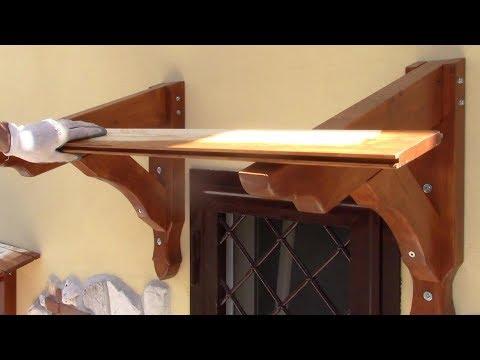 TETTOIA copri FINESTRA e copri BALCONE Fai da Te - Laminated timber roof window canopy DIY