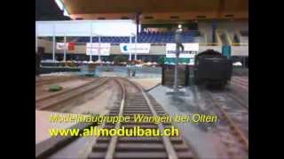 preview picture of video 'Spur-0-Expo 2013: Modellbaugruppe Wangen bei Olten'