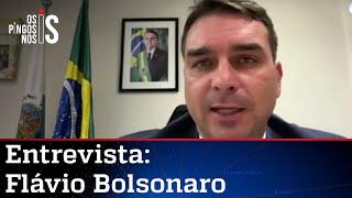 EXCLUSIVO: Flávio Bolsonaro fala sobre internação do pai