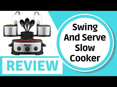 , Crock-pot SCCPTOWER-S Swing and Serve Slow Cooker, Stainless Steel