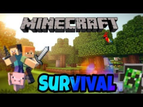 -Minecraft Survival 1º Episódio,Consegui uma Barra de Ouro logo no primeiro episódio!!!!!!!!!!