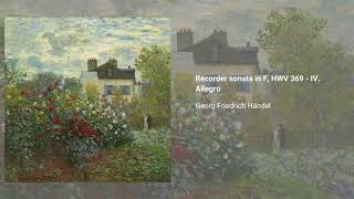 Recorder sonata in F major, HWV 369