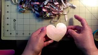 Shabby Fabric Hearts Tutorial