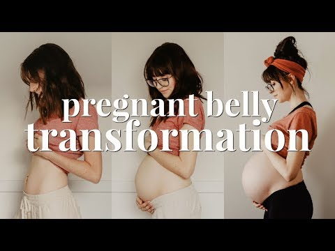 PREGNANT BELLY GROWTH | 7 - 40 WEEKS TRANSFORMATION | SECOND PREGNANCY