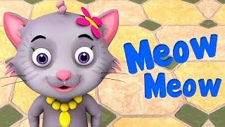 Meow Meow Billi Karti | म्याऊँ म्याऊँ | Hindi Rhymes For Children