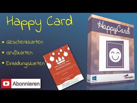 »HappyCard« - Grußkarten, Geschenkkarten & Einladungen im Handumdrehen