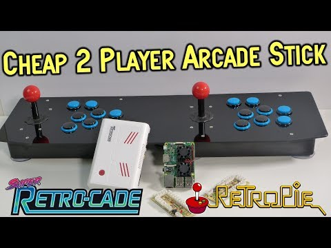 Cheap 2 Player Pi 3 USB Arcade Stick Review  & Super Retro-Cade Guide