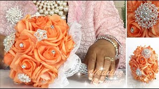 DIY Glamorous Brooch Bouquet/ Bling Floral Bridesmaid Wedding Bouquet/ Total Dazzle Winner Part 1