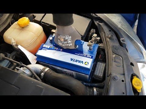 Opel Astra H neue Starterbatterie einbauen (Varta E43 Blue Dynamic 58372 72Ah)