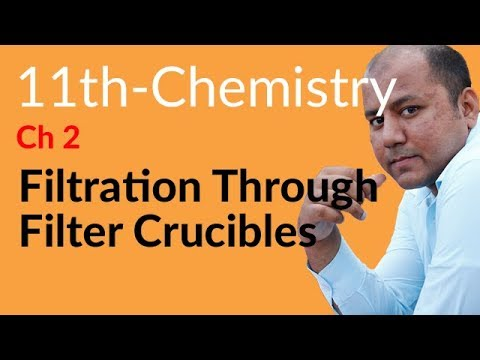 FSc Chemistry part 1, Ch 2 - Filtration Filter Crucibles - 11th Class Chemistry