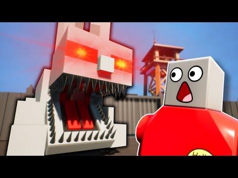 GIANT MONSTER DEFENSE! - Brick Rigs Multiplayer Gameplay
