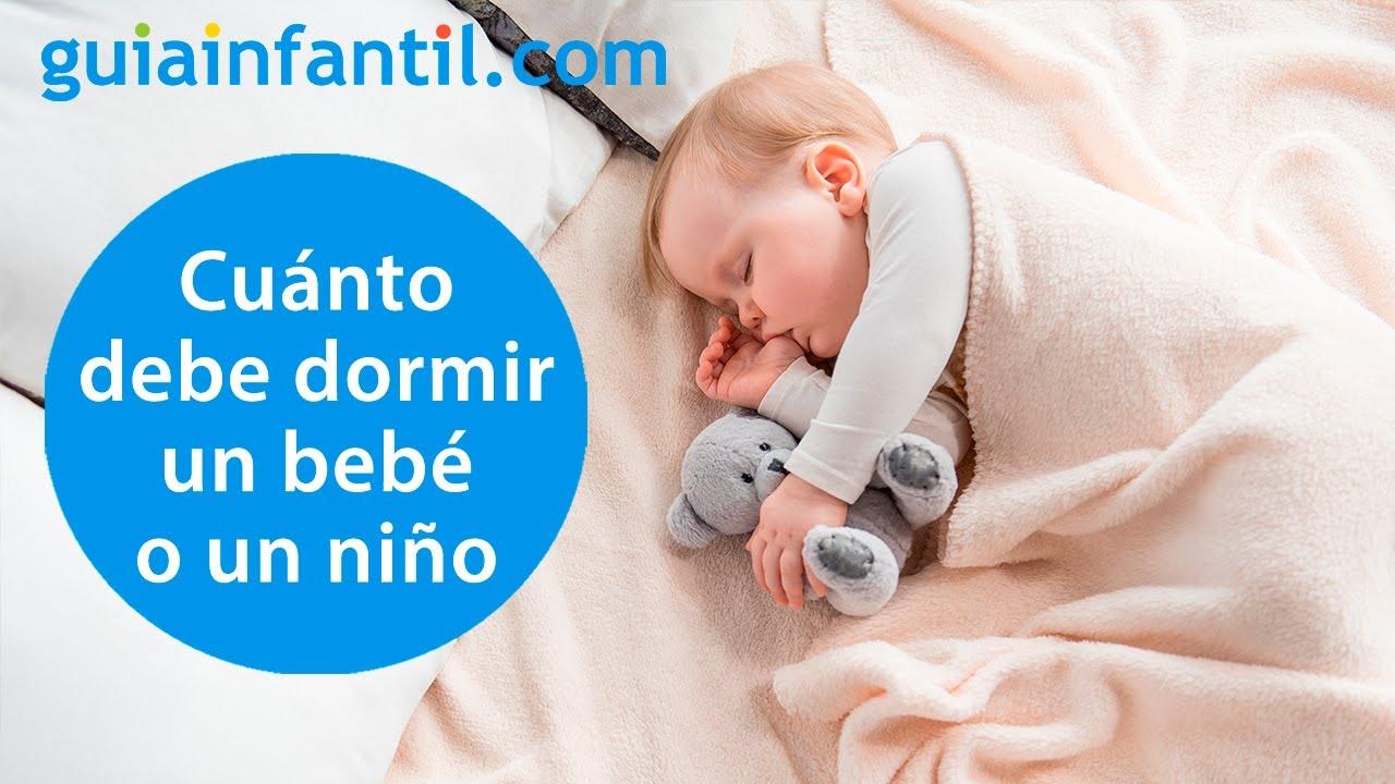 ¿Cuántas horas de sueño necesitan dormir los niños según su edad? | Dudas sobre sueño infantil ????