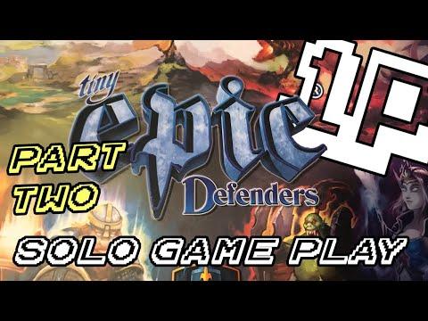 Tiny Epic Defenders Solo Gameplay Pt. II