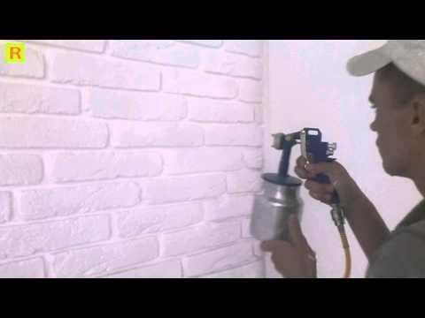Как красить декоративный гипсовый кирпичик