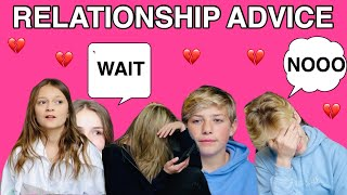 RELATIONSHIP ADVICE (PART 2) W/ Piper Rockelle & Squad *MY CRUSH REVEALED💔*