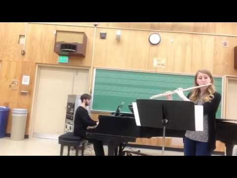 Barber Canzone for Flute and Piano
