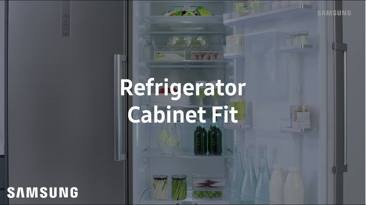 Samsung Tall One Door Refrigerator : Cabinet Fit thumbnail