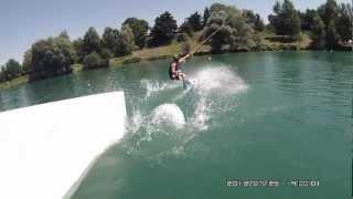 preview picture of video 'OREGON ATC9K wakeboard session cable park Baudreix ( les ô kiri )'